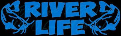 River Life 2 Catfish Vinyl Decal Sticker Lilbitolove