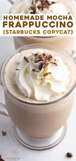 mocha frappuccino starbucks copycat