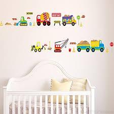 Ufengke Cartoon Cars Trucks Trains Vehicles Wall Decals Children S Room Nursery Removable Wall Stickers Murals B00vnou16a