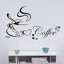 Amazon Com Js Artworks Coffee And Tea Vinyl Wall Art Decal Sticker Home Kitchen