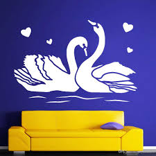 Couple Swans Vinyl Wall Decal Bedroom Love Romance Birds Wall Stickers For Living Room Baby Nursery Wall Decal Art Mural Baby Nursery Wall Stickers Baby Room Wall Decals From Joystickers 11 75 Dhgate Com