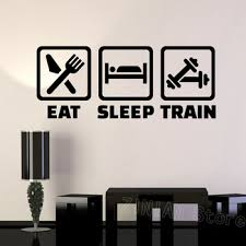 Eat Sleep Train Wall Decal For Boys Bedroom Vinyl Gym Wall Stickers Fitness Training Healthy Lifestyle Art Decals Wallpaper Z618 Buy At The Price Of 7 18 In Aliexpress Com Imall Com