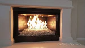 glass bead fireplace indoor gas