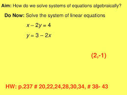 ppt aim how do we solve systems of