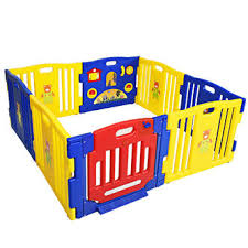 Gymax Baby Playpen Safety Play Yard Fence Activity Centre Kids 8 Panel With Gate Door