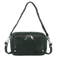 Ida shoulder bag by Adax in green Rubicone suede