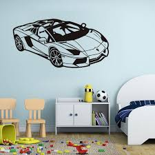 Wall Stickers Toy Cars Racing Boys Bedroom Cool Art Decals Vinyl Home Room Decor