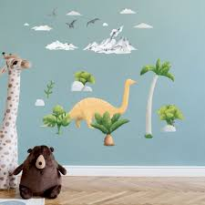 The Cutest Brontosaurus Dinosaur Wall Stickers For Happy Kids Room Made Of Sundays
