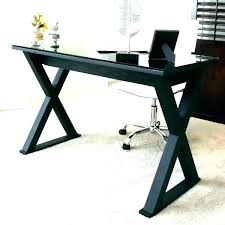 black glass corner desk small glass top