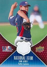 Tyler Lyons player worn jersey patch baseball card (Team USA) 2009 Upper  Deck #USA-TL at Amazon's Sports Collectibles Store