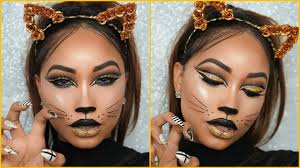halloween full glam cat face makeup