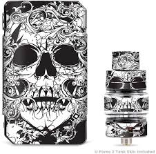Amazon Com It S A Skin Decal Vinyl Wrap For Voopoo Drag Mini Uforce T2 Tank Vape Sticker Sleeve Cover Crazy Lineart Skull Design Computers Accessories