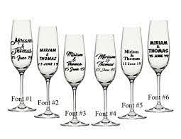 Amazon Com 80 Champagne Glass Decals Customize The Color Font And The Text Perfect For Your Champagne Flutes Bridesmaids Gift Wedding Party Etc Handmade