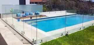 stylish frameless glass pool fencing