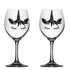 Wine Glass Decals Unicorn Stickers Small Pattern Decoration Cup Poster Mural Party Custom Decal Sticker Wedding Decals Ly1703 Wall Stickers Aliexpress