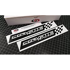 Amazon Com Underground Designs Corvette Racing Decal Checkered Flag Sticker Ls1 Ls2 Ls3 Ls7 Lsx Any Color Matte Black 1 5 X 12 0 Automotive