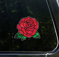 Clr Car Rose D2 Stained Glass Style Vinyl Car Decal C Yydc 6 W X 5 5 H Ebay