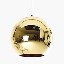 modern pendant light in globe metal