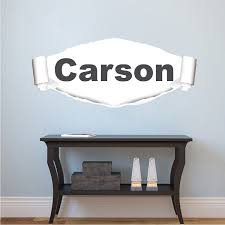 Ripped Wall Custom Name Decal Kids Room Names Primedecals