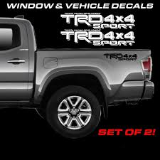 Toyota Tacoma Trd Sport 4x4 Off Road Bed Side Decals Tacoma 1990 2019 Stickers Wish