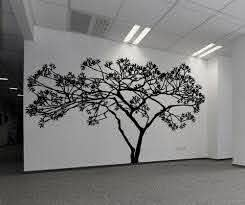 Wide Tree Wall Decal For Your Living Room Decor Ac156 Stickerbrand