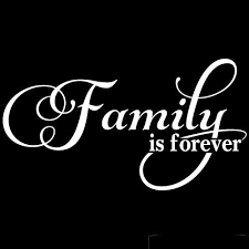 Amazon Com Family Is Forever Quote Vinyl Wall Decal Sticker Art Removable Home Decor White Home Kitchen