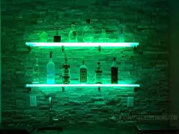 led lighted shelves back bar shelving