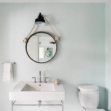 kid bathroom rope hanging mirror design