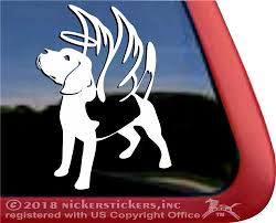 Beagle Angel Dog Window Decal Nickerstickers