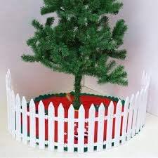 Amazon Com Bestoyard Christmas Tree Fence White Picket Fence Miniature Home Garden Wedding Fairy Garden Party Decoration 25 Pcs Garden Outdoor