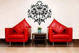 Amazon Com Yilooom Scroll Fleur De Lis Damask Backsplash Wall Decal Sticker Room Decor Home Kitchen 22 Inch In Width Kitchen Dining