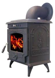 antique wood burning cast iron garden