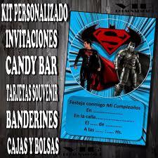 Kit Imprimible Batman Vs Superman Cumpleanos Bautismos 280 00 En Mercado Libre