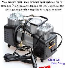 Máy nén khí mini - máy bơm hơi mini xách tay giá rẻ - Bơm hơi Ôtô, xe máy,  xe đạp mã lực lớn, Công Suất Đạt 120W, giảm giá tuần vàng