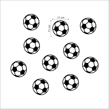 Super Sale 0ede90 Colorful 10 Pcs Football Soccer Ball Wall Stickers For Kids Rooms Boys Bedroom Art Vinyl Wall Decals Home Decor Diy Mural Art Cicig Co