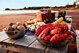 Lobster dinner on beach - PEI - Food ...