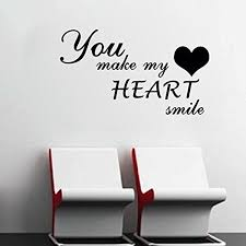 You Make My Heart Smile 12x22 Click On The Image For Additional Details This Is An Affiliate Link Wallstickersm Wall Stickers Murals My Heart How To Make