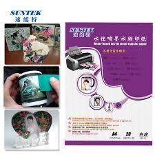 China Inkjet White Back Papel Transfer Water Slide Decal Paper Transfer Camisetas Water Transfer Papers Papier Transfert Ceramic Decals China Transfer Paper Transfer Printing