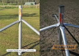 Ezypipe Strainer Post Strainer Assemblies Waratah Fencing