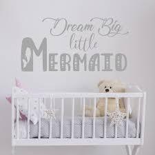 Baby Dream Big Little Girl Wall Decal Wall Decals Vinyl Art