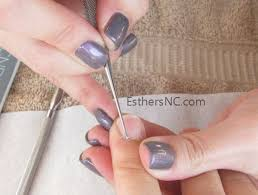 how to apply sac nail polish