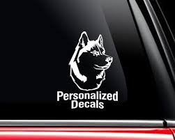Husky Vinyl Window Decals Make A Decal Online W Decal Etsy