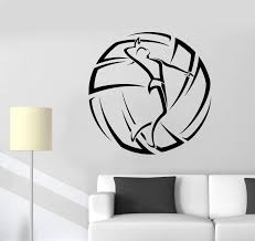 Vinyl Wall Decal Volleyball Sport Girl Ball Logotype Stickers 2287ig Wallstickers4you