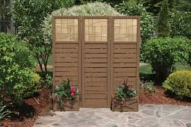 Three Panel Privacy Screen With Planters Canadian Tire