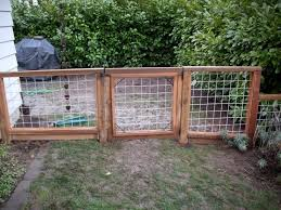 Galvanized Wire Fence With Pressure Treated Frame Deck Masters Llc