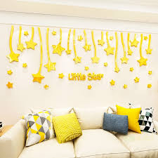 Mirror Gold Star Wall Stickers Simple Self Adhesive Living Room Decals Kids Room Mural Large Home Decor Wallpaper Layout Paintin Wall Stickers Aliexpress