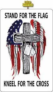 Stand For The Flag Kneel For The Cross Decal Sticker Anti Nfl Kapernick Usa P87 Ebay