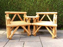 rustic garden furniture chairs