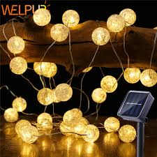 globe led solar string lights 5m 50led