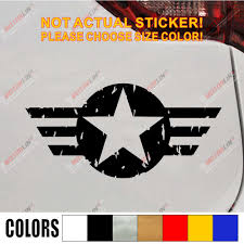 Army Air Force Star Vet Veteran Car Decal Sticker Vinyl Window Bumper Die Cut Distressed Style Choose Size And Color Car Decal Sticker Decal Stickersticker Vinyl Aliexpress